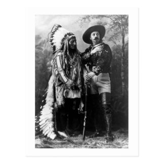Chief Sitting Bull and Buffalo Bill 1895 Vintage Postcard