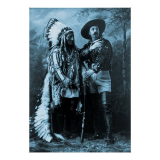 Chief Sitting Bull and Buffalo Bill Posters