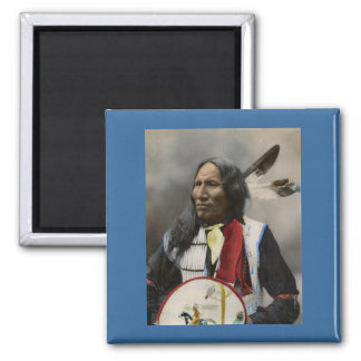 Chief Strikes With Nose, Oglala Sioux  1899 Square Magnet