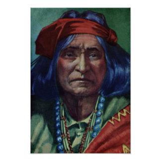 Chief Thunderbird Navajo Nation Poster