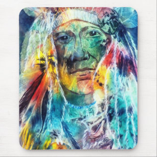 Chief Two Moons I Mouse Pad