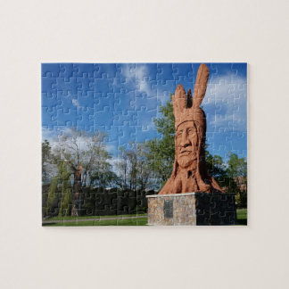 Chief Wasatch Statue Murray Park, Salt Lake City Jigsaw Puzzle