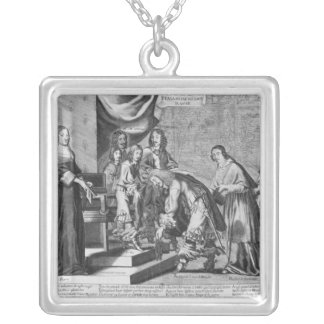 Chiefs of Fronde admitted to greet the King Silver Plated Necklace
