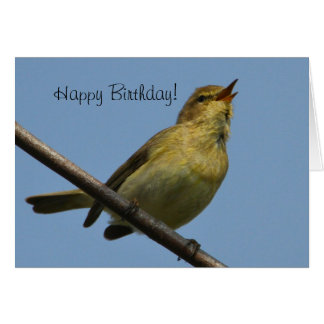 ChiffChaff Happy Birthday Card