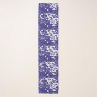 Chiffon Blue Willow Pattern Scarf