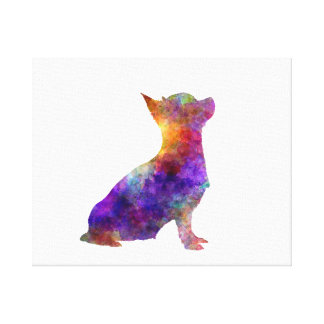 Chihuahua 01 in watercolor 2 canvas print