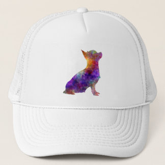 Chihuahua 01 in watercolor 2 trucker hat