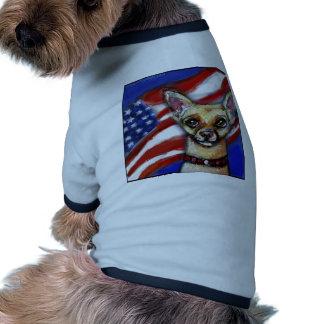 Chihuahua American Flag Dog Shirt