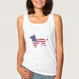 """Chihuahua """"American Flag"""" Singlet"""