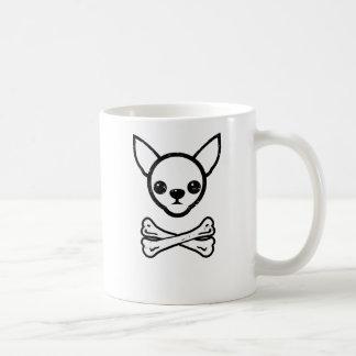 Chihuahua and bones (editable) coffee mug
