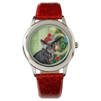Chihuahua AngelPearlGirl Christmas Watch