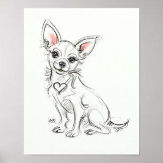 Chihuahua Art print | Quick sketch