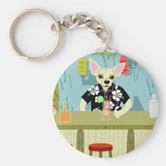 Chihuahua Bamboo Tiki Bar Keychains