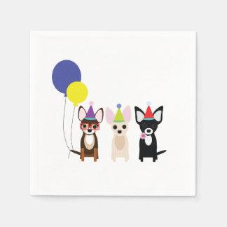 Chihuahua Birthday Napkins Disposable Napkins