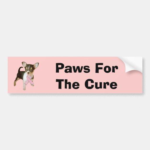 Chihuahua Breast Cancer Bumper Sticker