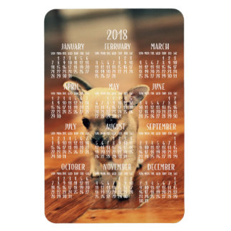 Chihuahua Calendar 2018 Photo Magnet 4x6 Large