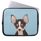 Chihuahua cartoon laptop sleeve