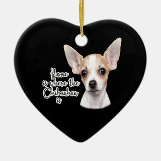 Chihuahua Ceramic Ornament