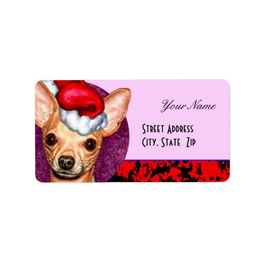 Chihuahua Claus Label