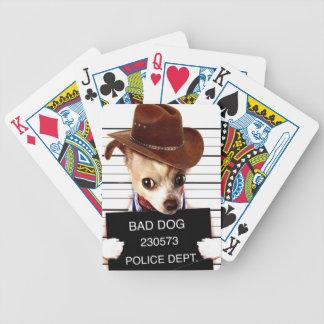 chihuahua cowboy - sheriff dog bicycle playing cards
