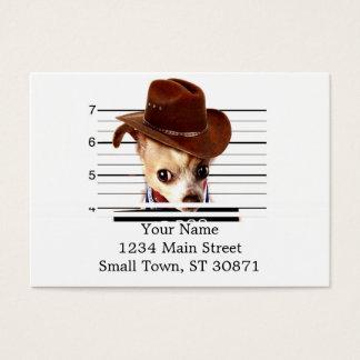 chihuahua cowboy - sheriff dog business card