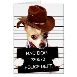 chihuahua cowboy - sheriff dog card