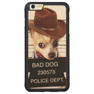 chihuahua cowboy - sheriff dog carved maple iPhone 6 plus bumper case