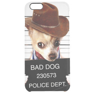 chihuahua cowboy - sheriff dog clear iPhone 6 plus case