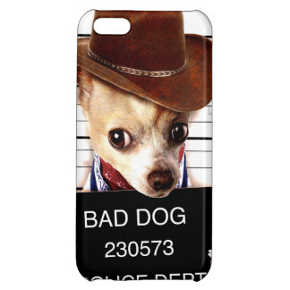 chihuahua cowboy - sheriff dog cover for iPhone 5C