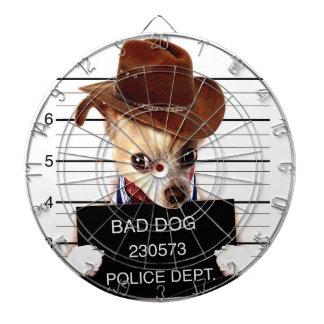 chihuahua cowboy - sheriff dog dartboard