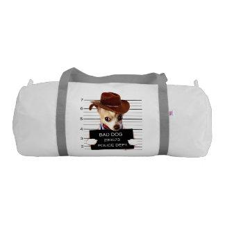 chihuahua cowboy - sheriff dog gym bag