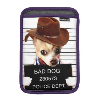 chihuahua cowboy - sheriff dog iPad mini sleeve