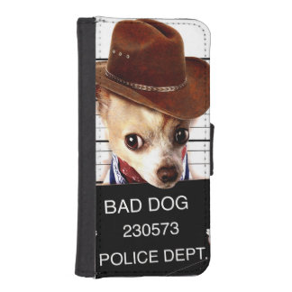 chihuahua cowboy - sheriff dog iPhone SE/5/5s wallet case