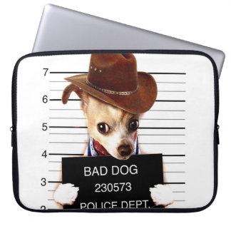chihuahua cowboy - sheriff dog laptop sleeve