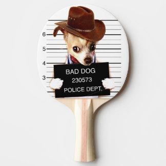 chihuahua cowboy - sheriff dog ping pong paddle