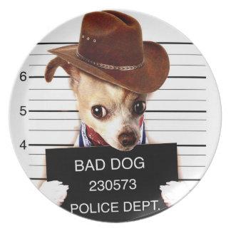 chihuahua cowboy - sheriff dog plate