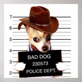 chihuahua cowboy - sheriff dog poster