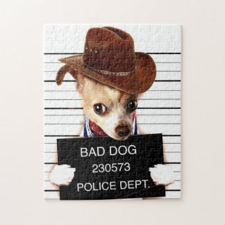 chihuahua cowboy - sheriff dog puzzles