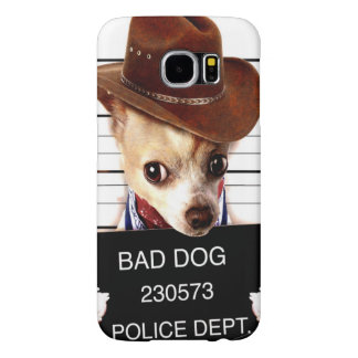 chihuahua cowboy - sheriff dog samsung galaxy s6 cases