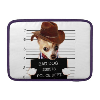 chihuahua cowboy - sheriff dog sleeve for MacBook air