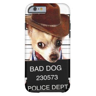 chihuahua cowboy - sheriff dog tough iPhone 6 case