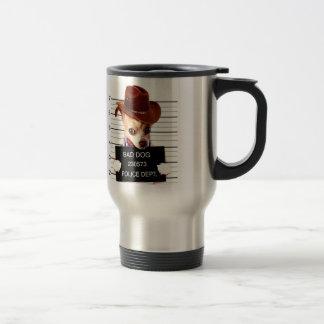 chihuahua cowboy - sheriff dog travel mug