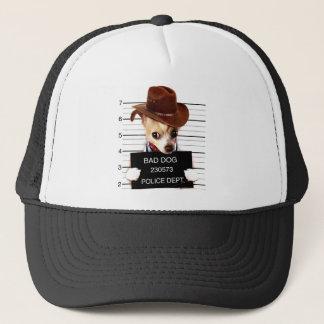 chihuahua cowboy - sheriff dog trucker hat