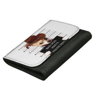 chihuahua cowboy - sheriff dog wallet for women
