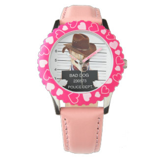 chihuahua cowboy - sheriff dog wrist watch