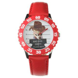 chihuahua cowboy - sheriff dog wrist watches