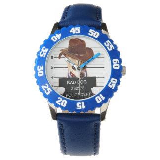 chihuahua cowboy - sheriff dog wristwatches