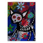 Chihuahua Dia De los Muertos by Prisarts Cards