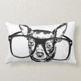 Chihuahua Dog Illustration Drawing Lumbar Pillow