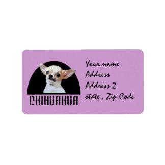 Chihuahua dog label